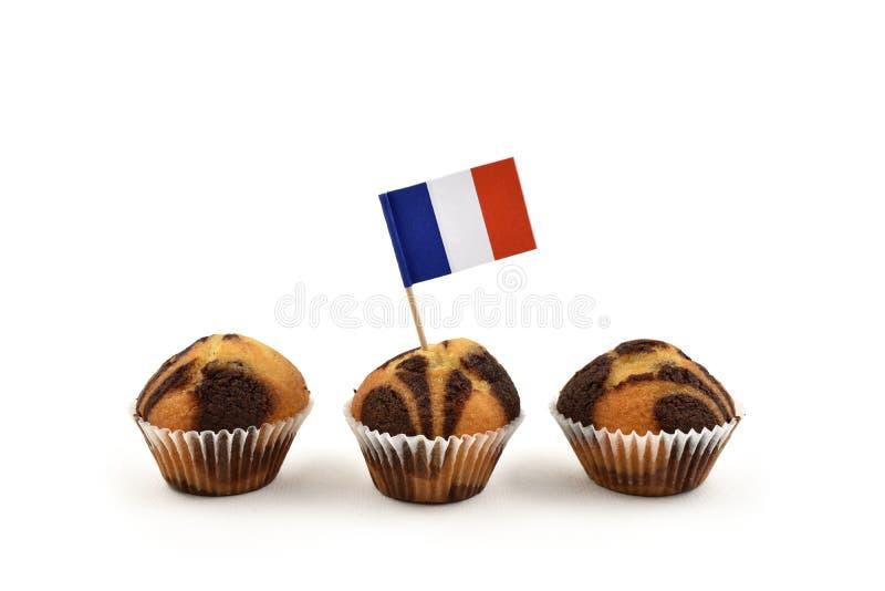 Images françaises d'actions de cure-dents de drapeau image libre de droits