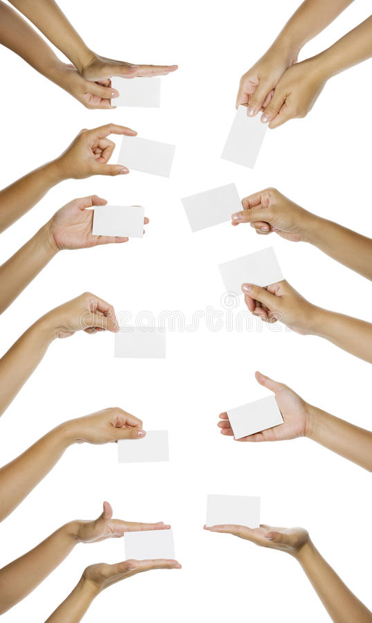 Images Of Hand Giving Namecard stock photo