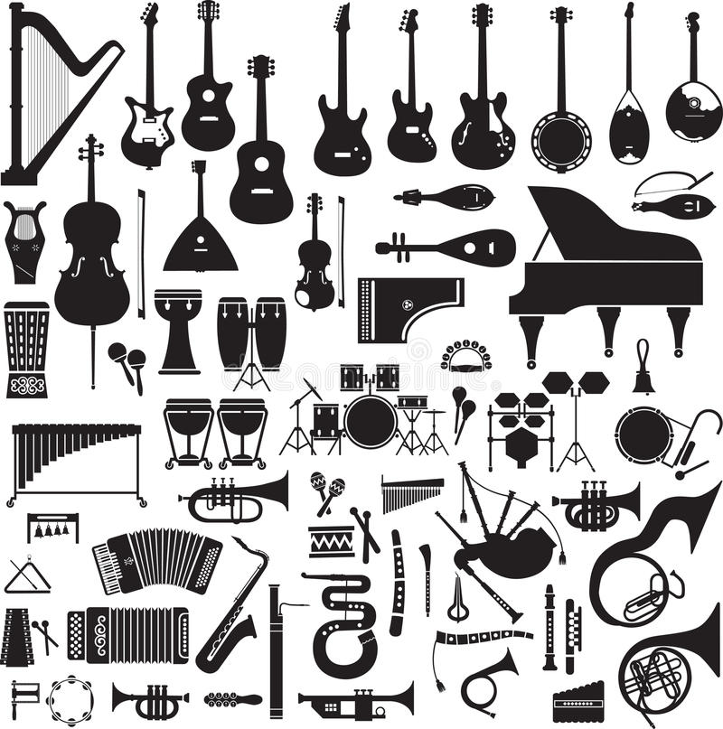 Download 60 Images Of Musical Instruments Stock Vector - Illustration of major, clarinet: 39503489