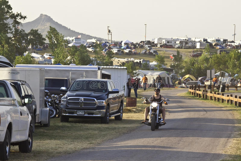 Images of sturgis rally south dakota. Campground during the annual sturgis bike rally royalty free stock photo
