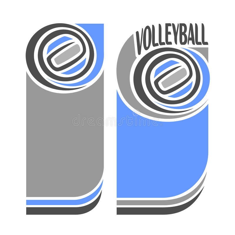 Images for text on the subject of volleyball royalty free illustration