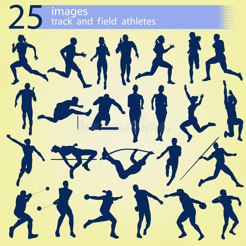 25 images track and field athletes stock photo