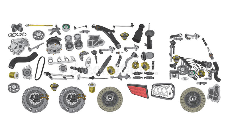 Images Truck Assembled from New Spare Parts Stock Photo - Image of service, assortment: 111428196