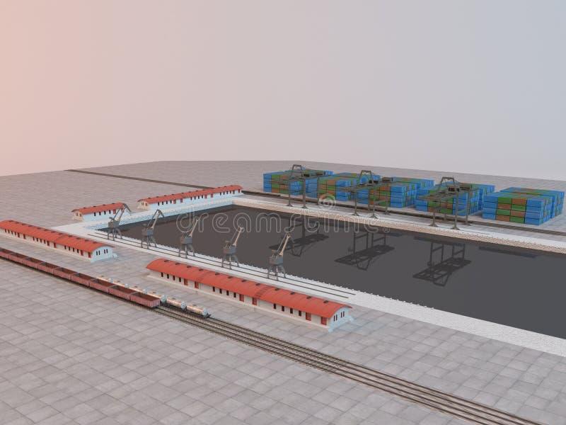 imaginär plats för bransch 3d med last vektor illustrationer