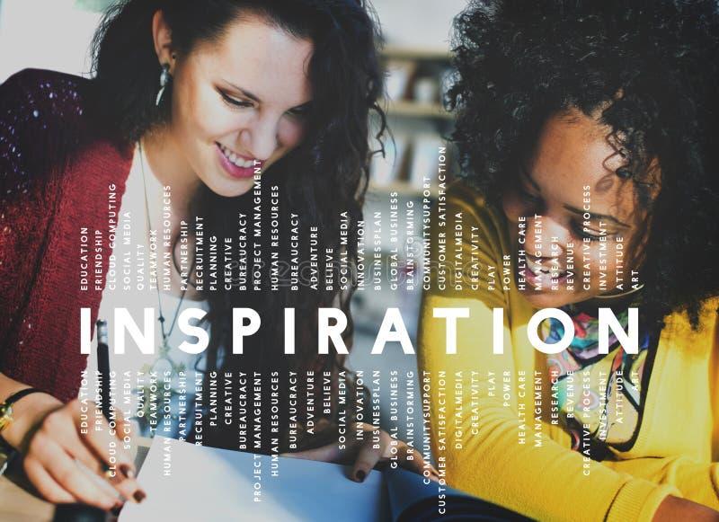 A imaginação da aspiração da inspiração inspira o conceito ideal imagem de stock