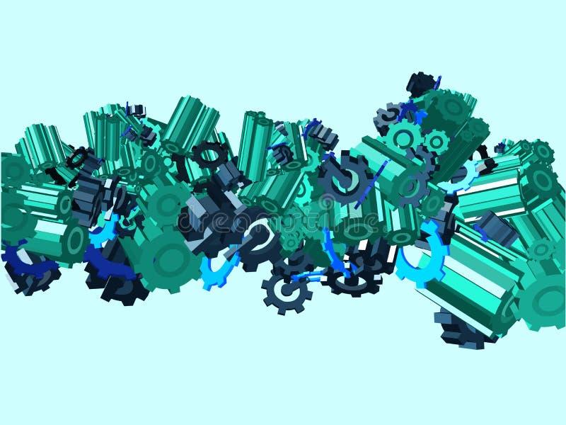 Imaginação da roda denteada. Vetor ilustração royalty free