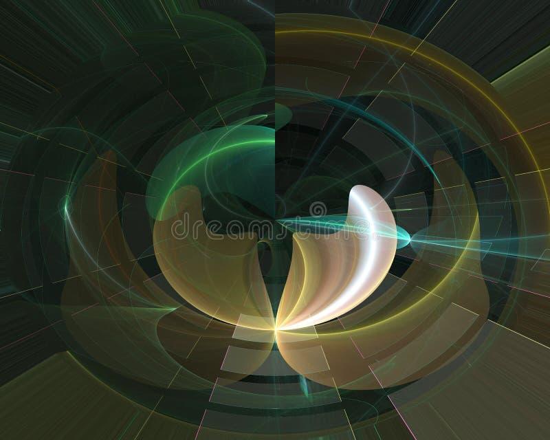 Imaginação dinâmica do projeto da fantasia do ornamento do contexto da forma do fluxo da elegância do efeito digital abstrato do  ilustração stock