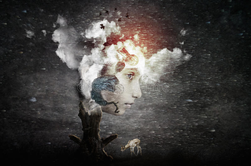 Imaginação futurista abstrata da arte foto de stock royalty free