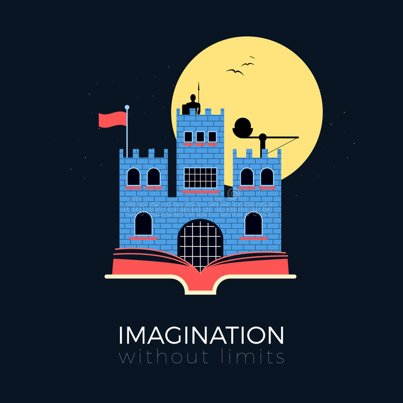 Imaginación: castillo de la fantasía ilustración del vector