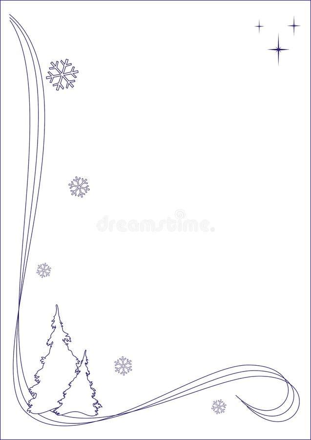 Imaginación del invierno stock de ilustración
