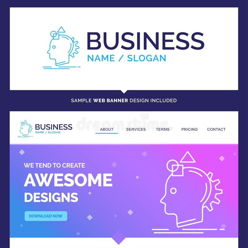 Imaginación hermosa de la marca del concepto del negocio, imaginativa ilustración del vector