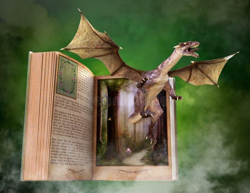 Imaginación, lectura, libro, historia, guión ilustración del vector