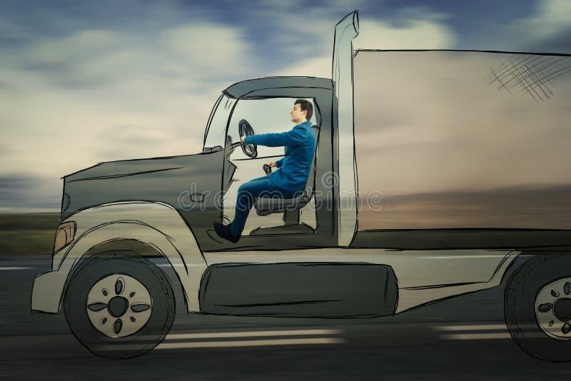 Imaginacyjny ciężarowy jeżdżenie fotografia stock