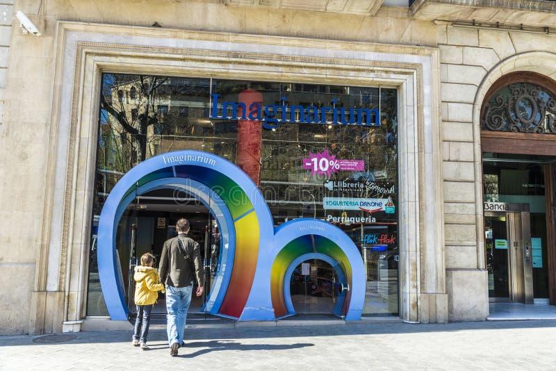 Imaginarium lager, Barcelona royaltyfria foton