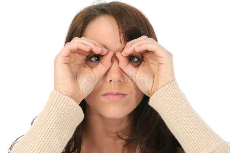 Imaginary Binoculars stock image