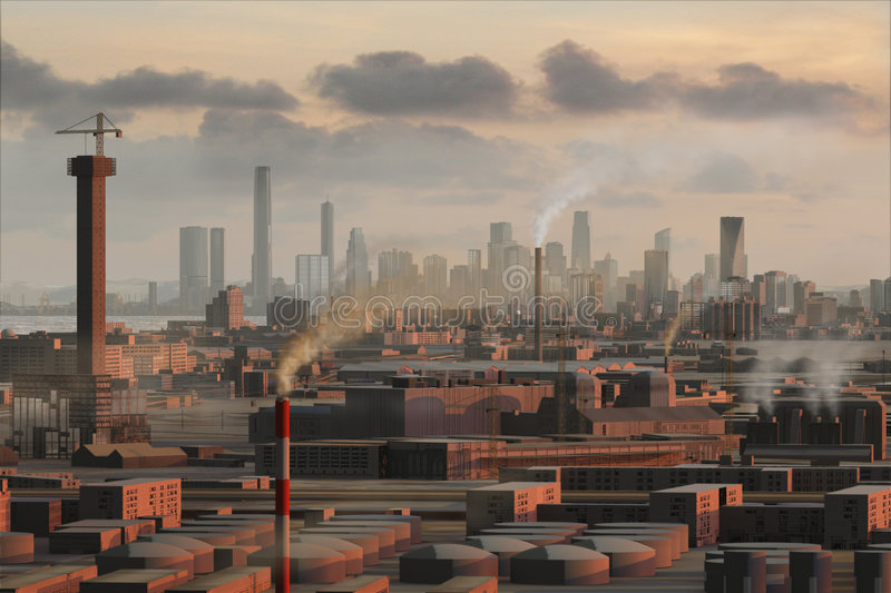Download Imaginary city 19 stock illustration. Image of concrete - 4709786