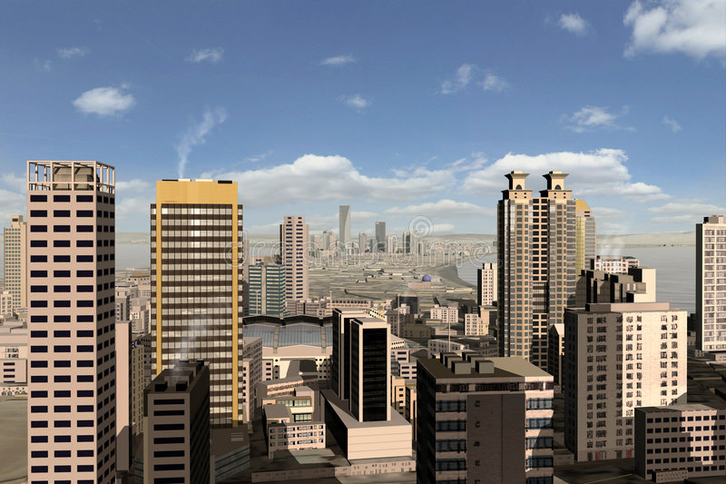 Imaginary city 25 royalty free illustration