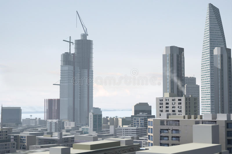 Download Imaginary city 96 stock illustration. Image of commercial - 10993830