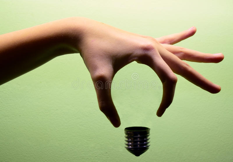 Imaginary Light Bulb stock photos