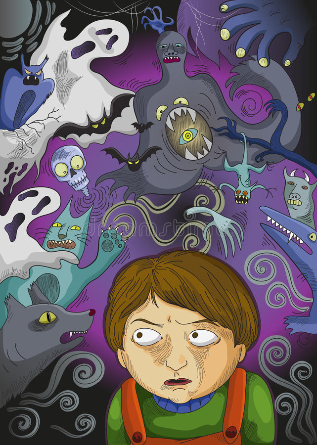 Imaginary monsters stock illustration