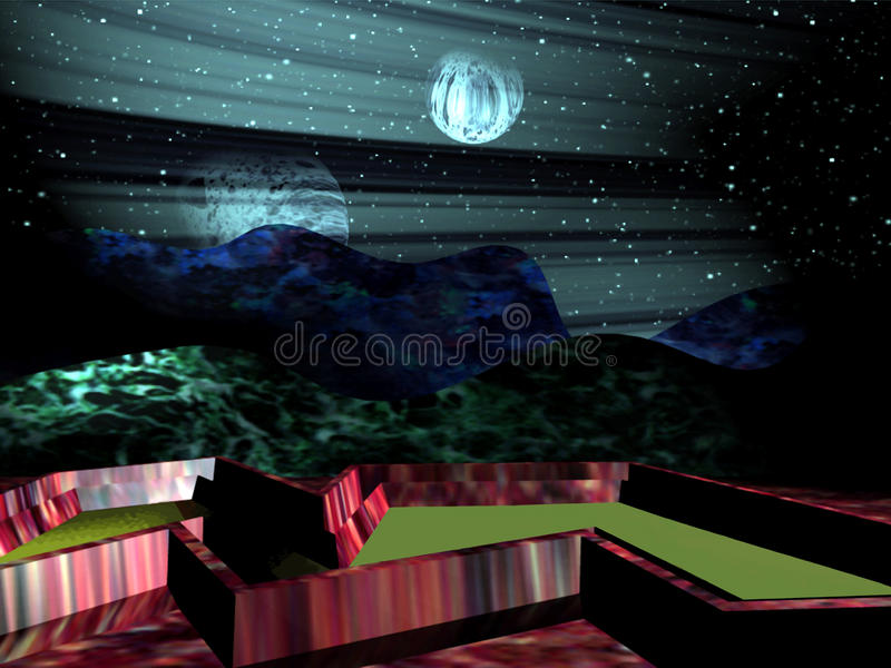 Download Imaginary Planet stock illustration. Image of fable, dream - 13107944