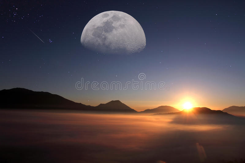 Imaginary planet stock images