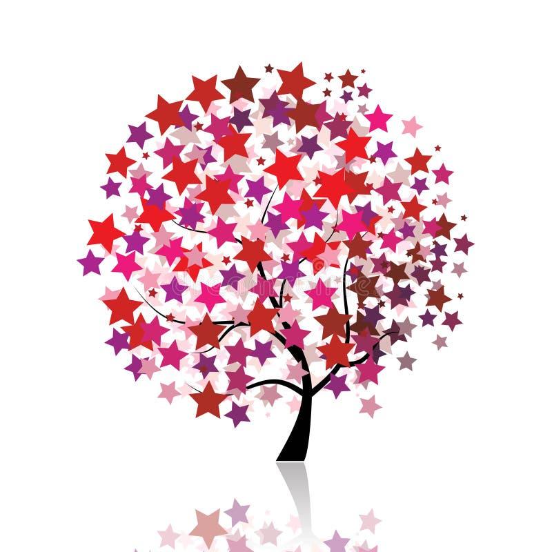 Imagination étoilée d'arbre illustration de vecteur
