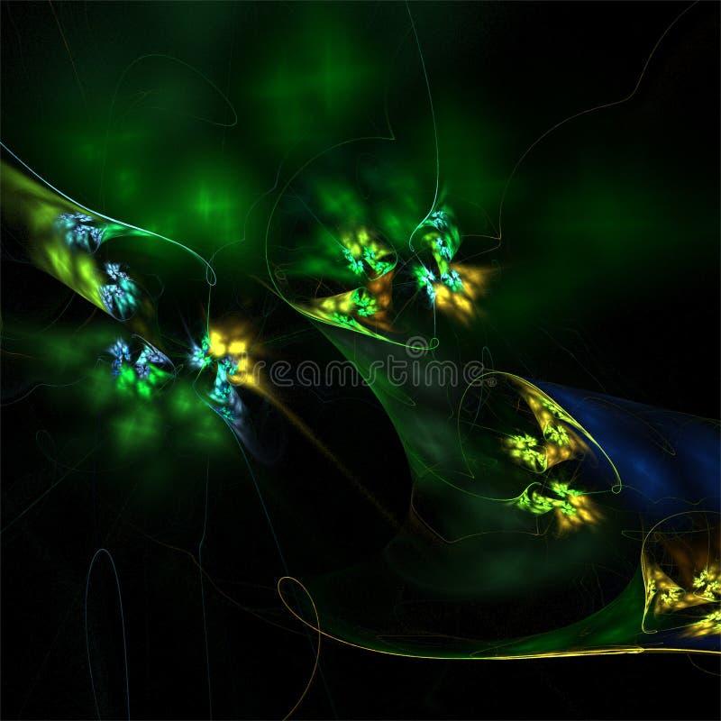 Imagination abstraite de structure de couleur d'art de fractale illustration libre de droits
