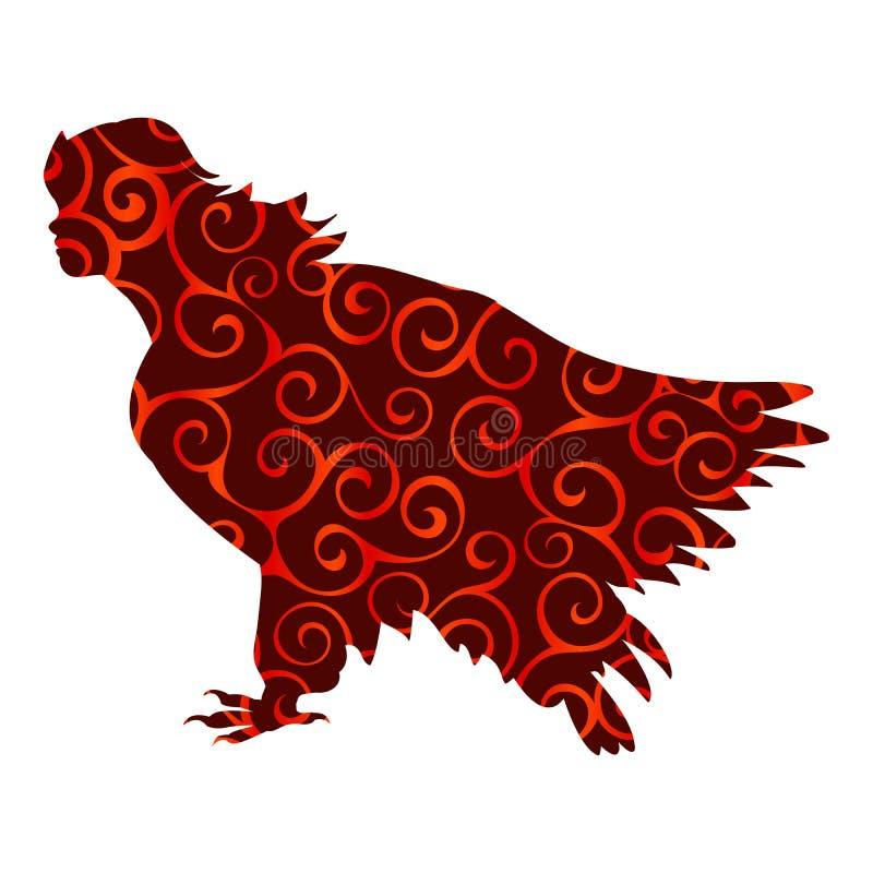 Imagination antique de mythologie de silhouette de modèle d'oiseau de Sirena illustration libre de droits