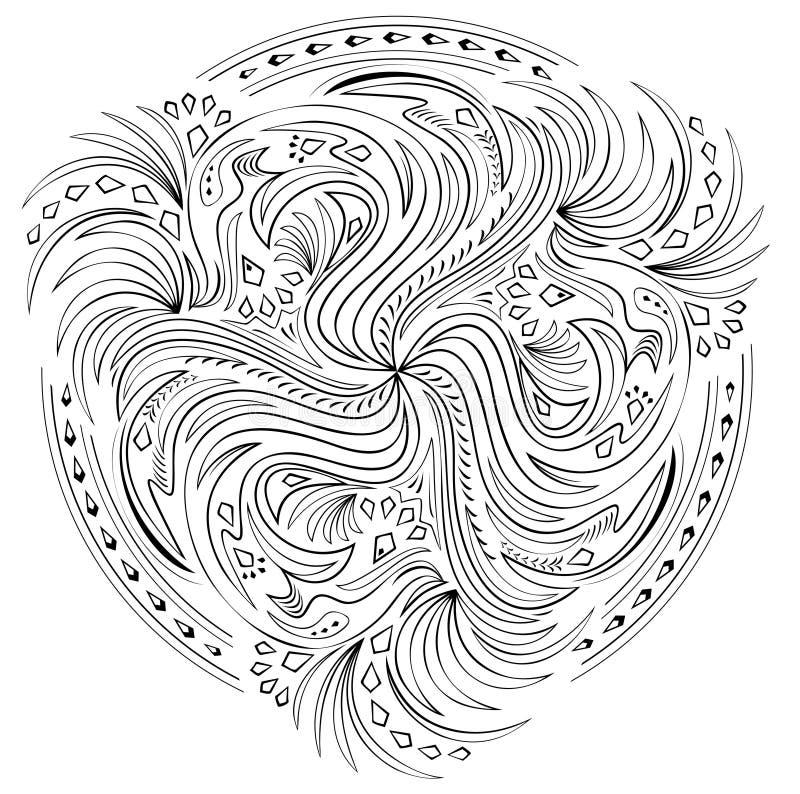 Imagination avec le remous basé sur les ornements celtiques illustration libre de droits