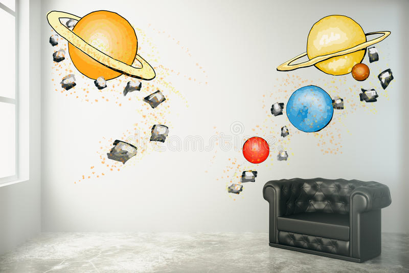 Download Imagination Concept, Planets Sketch Stock Illustration    Illustration Of Planets, Doodle: 77908950