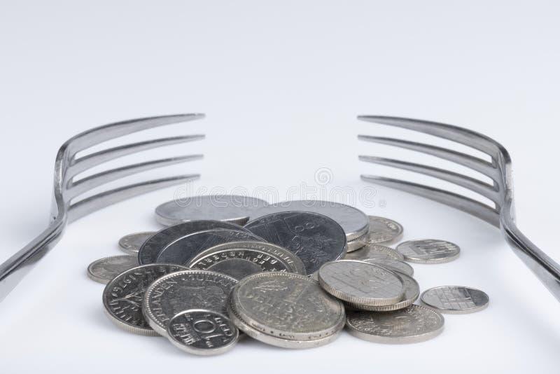 Imagination conceptuelle d'avidité financière images stock