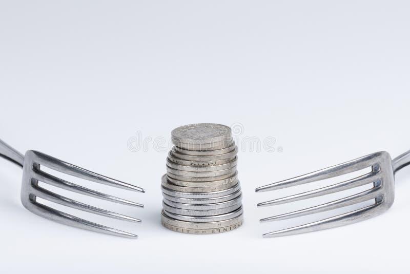 Imagination conceptuelle d'avidité financière photos libres de droits