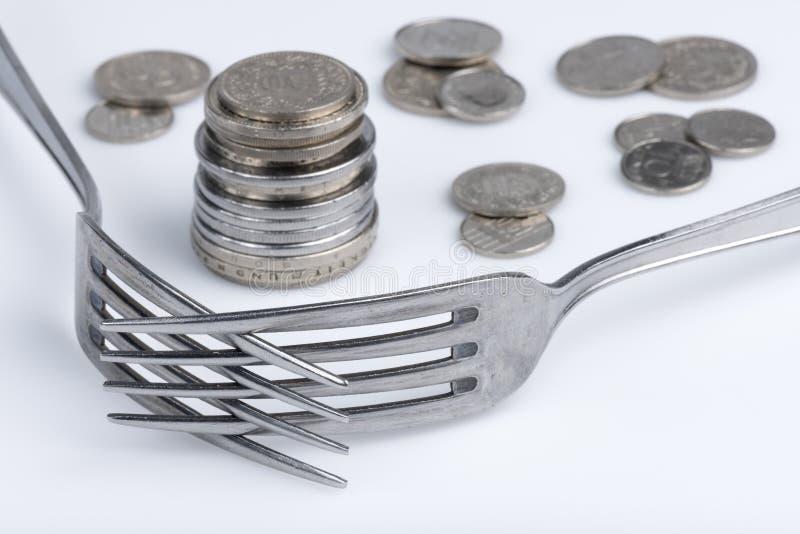 Imagination conceptuelle d'avidité financière image stock