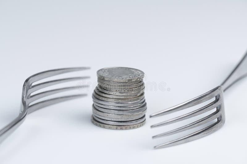 Imagination conceptuelle d'avidité financière photographie stock libre de droits
