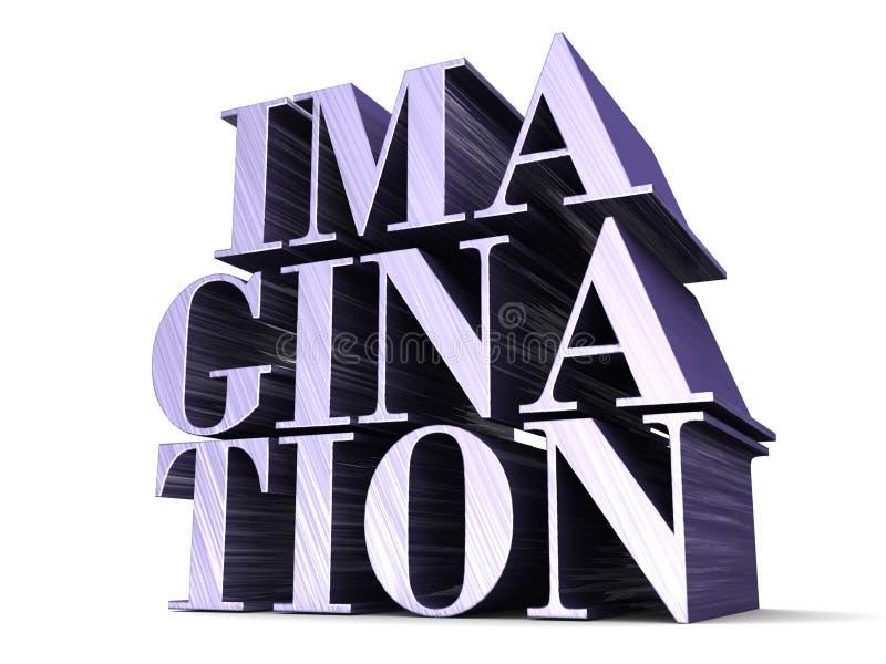 IMAGINATION 3D lettering stock image