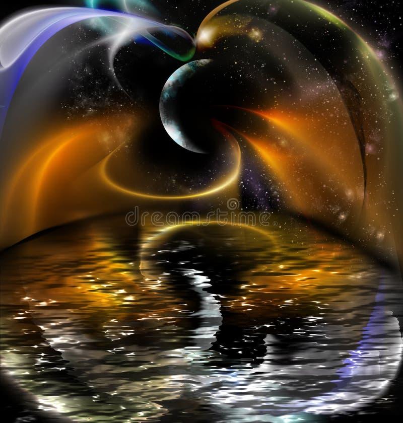 Imagination de nuit illustration de vecteur