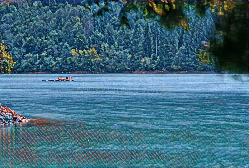 imagination du lac 201_Barcis photographie stock libre de droits