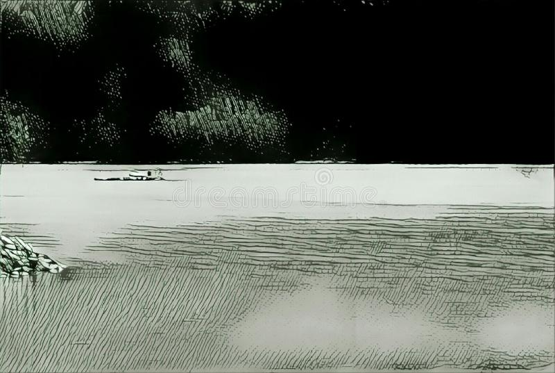 imagination du lac 196_Barcis image stock