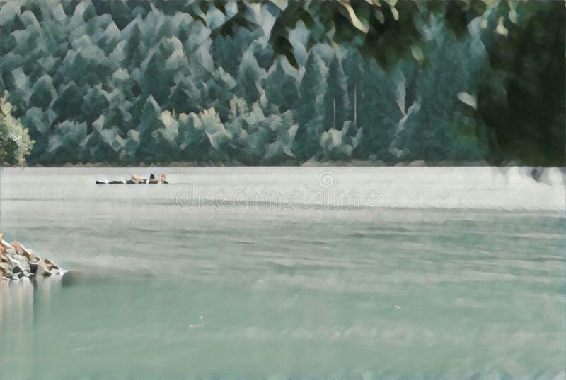 imagination du lac 203_Barcis photos stock