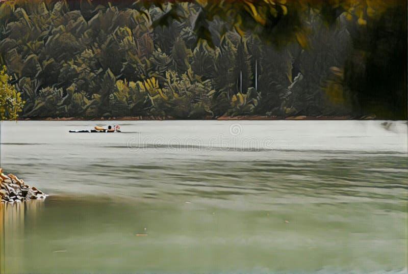 imagination du lac 202_Barcis image libre de droits