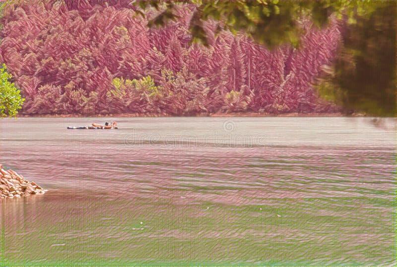 imagination du lac 195_Barcis image stock