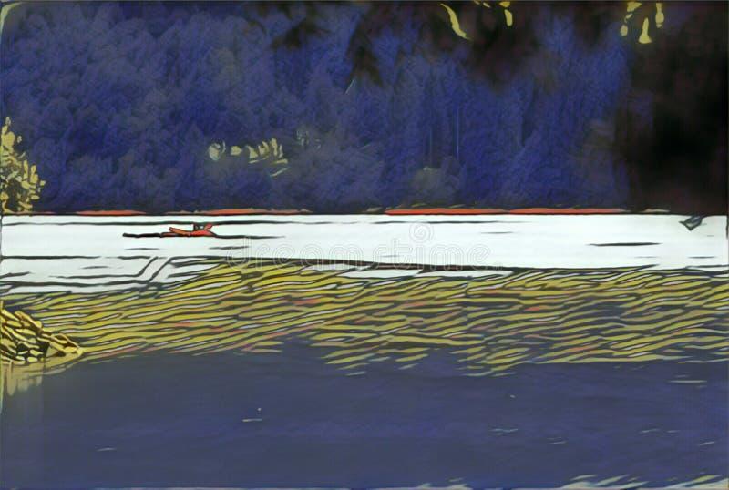 imagination du lac 216_Barcis images libres de droits