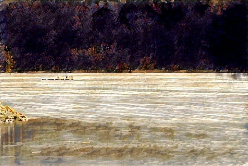 imagination du lac 217_Barcis photo stock