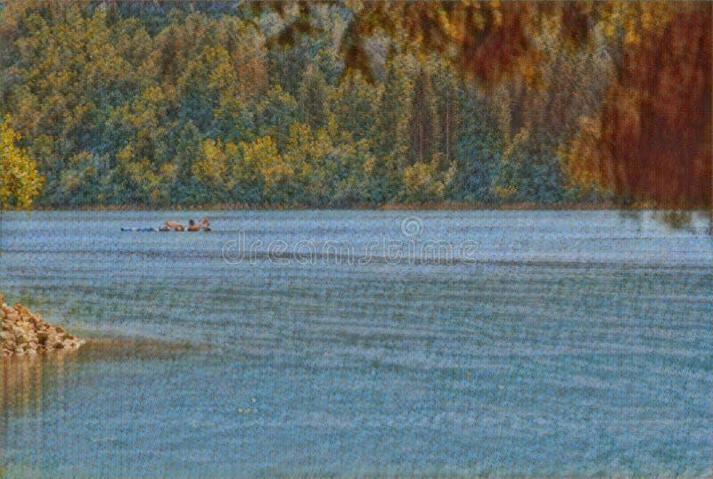 imagination du lac 218_Barcis images stock