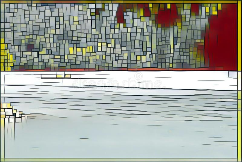 imagination du lac 220_Barcis photo stock