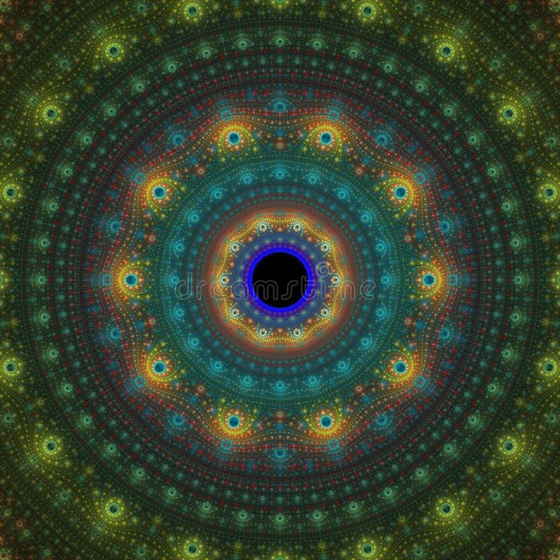 Imagination du soleil de fractale illustration stock