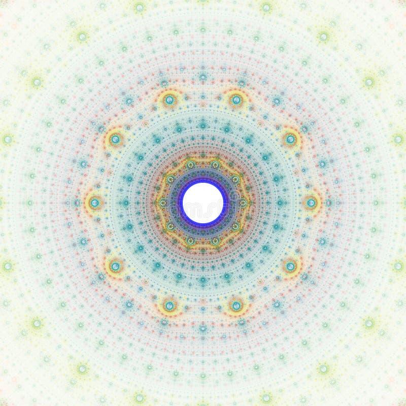 Imagination du soleil de fractale illustration libre de droits