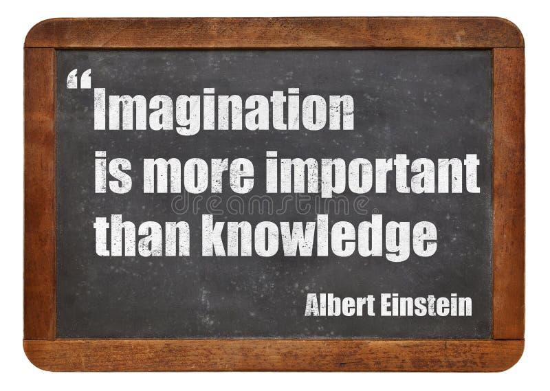 Imagination et connaissance photo libre de droits