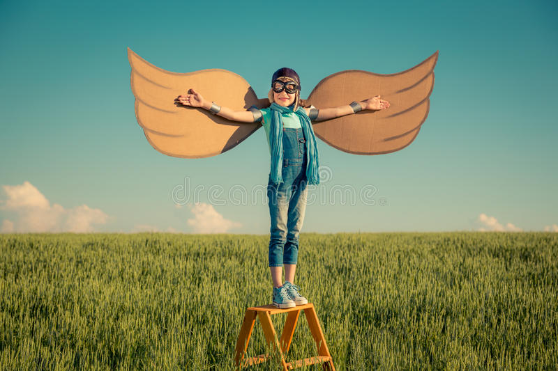 Imagination and freedom concept royalty free stock images